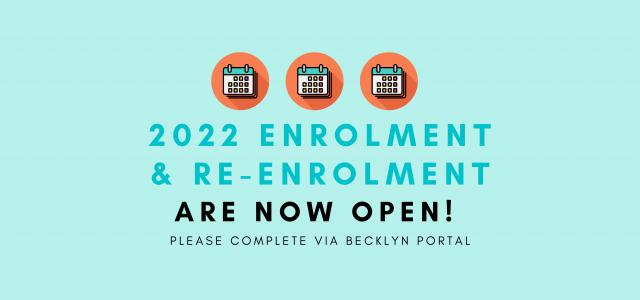 2022 Enrolment and Re-Enrolment